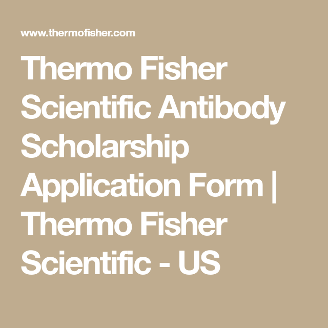 Thermo Fisher Scientific Application Status