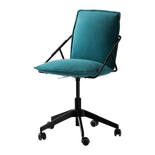 Schreibtischstuhl ikea türkis  IKEA - VILLSTAD, Drehstuhl, Samsta türkis, , Die Sitzfläche lässt ...