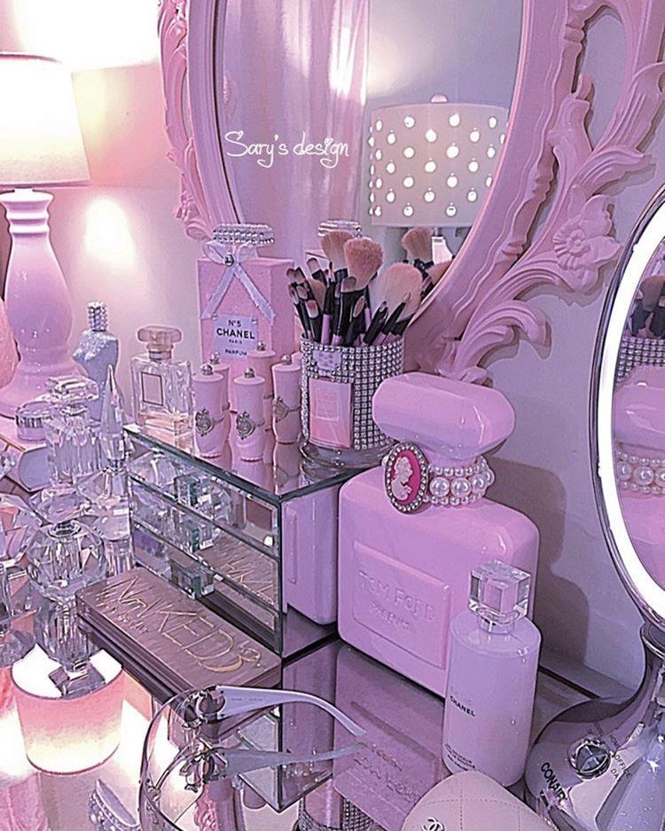 Diy Makeup Vanity Storage Vanities Pink Dream Rooms