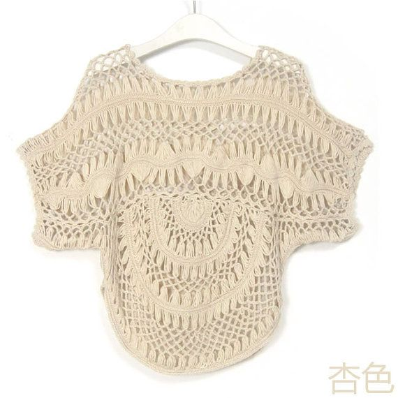 Womens Lace Crochet Bikini Swimsuit Cover Up Beach Dress Hairpin ...