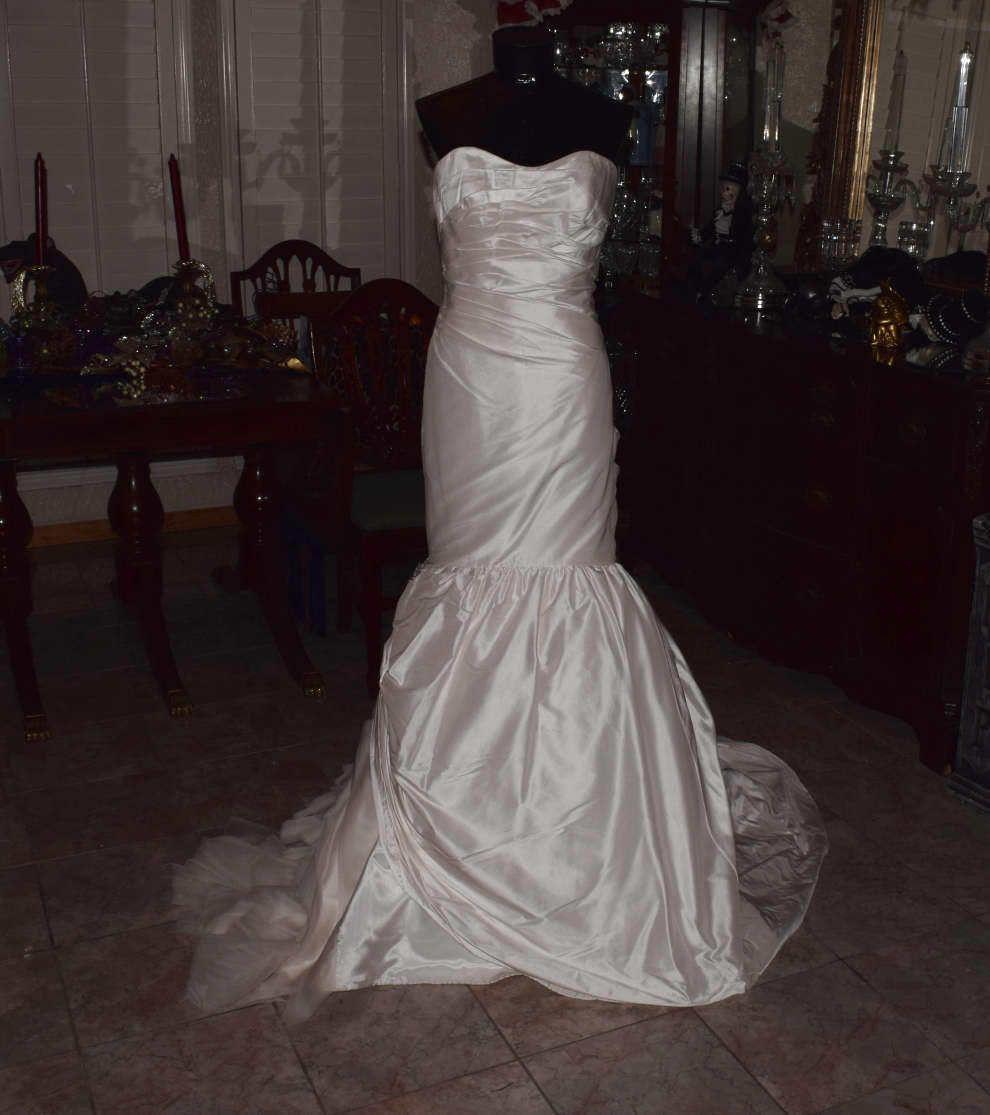 Awesome amazing jane wang bridal gown wedding dress size ivory