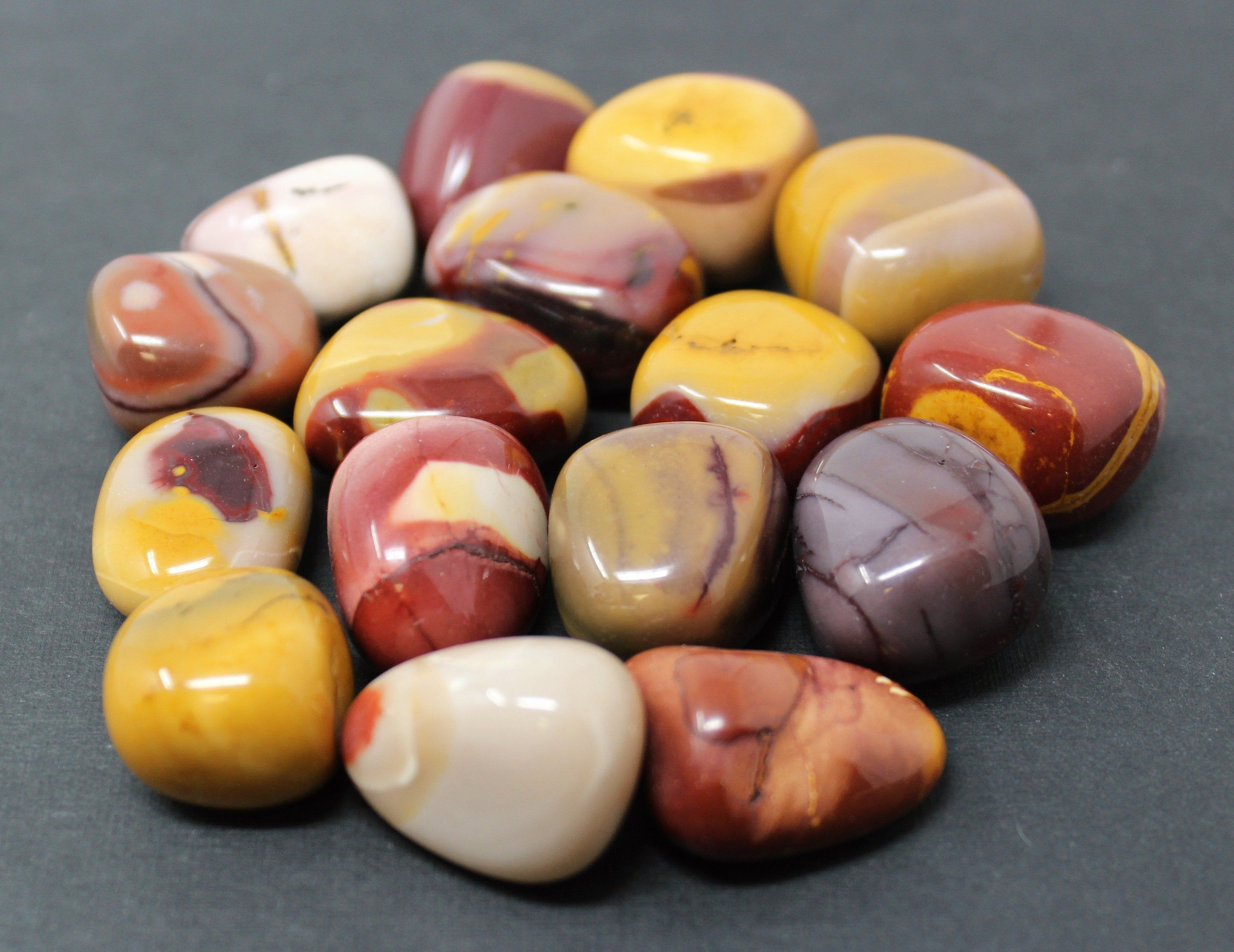 3 Piece Lot Picture Jasper Tumbled Stones Crystal Healing