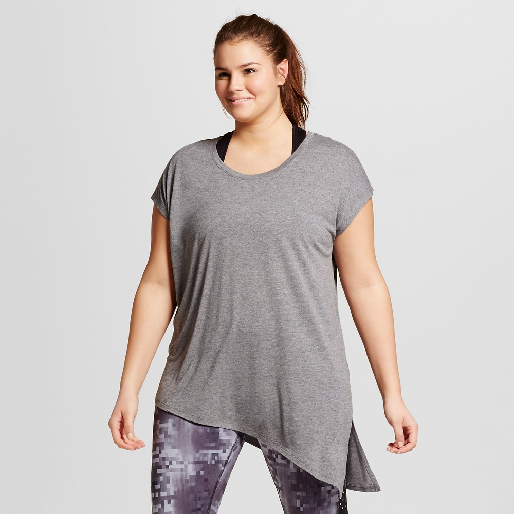 f43a6f0a8 Women's Plus-Size Active Side-Tie T-Shirt - C9 Champion Black Heather 4X  Gender: Female. Age Group: Adult. Pattern: Solid. Material: Rayon.