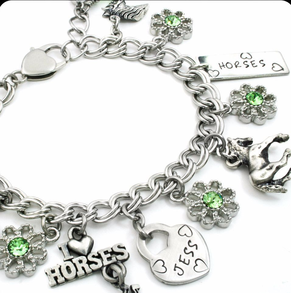 Horses charm bracelet for girls jevelry pinterest amazing