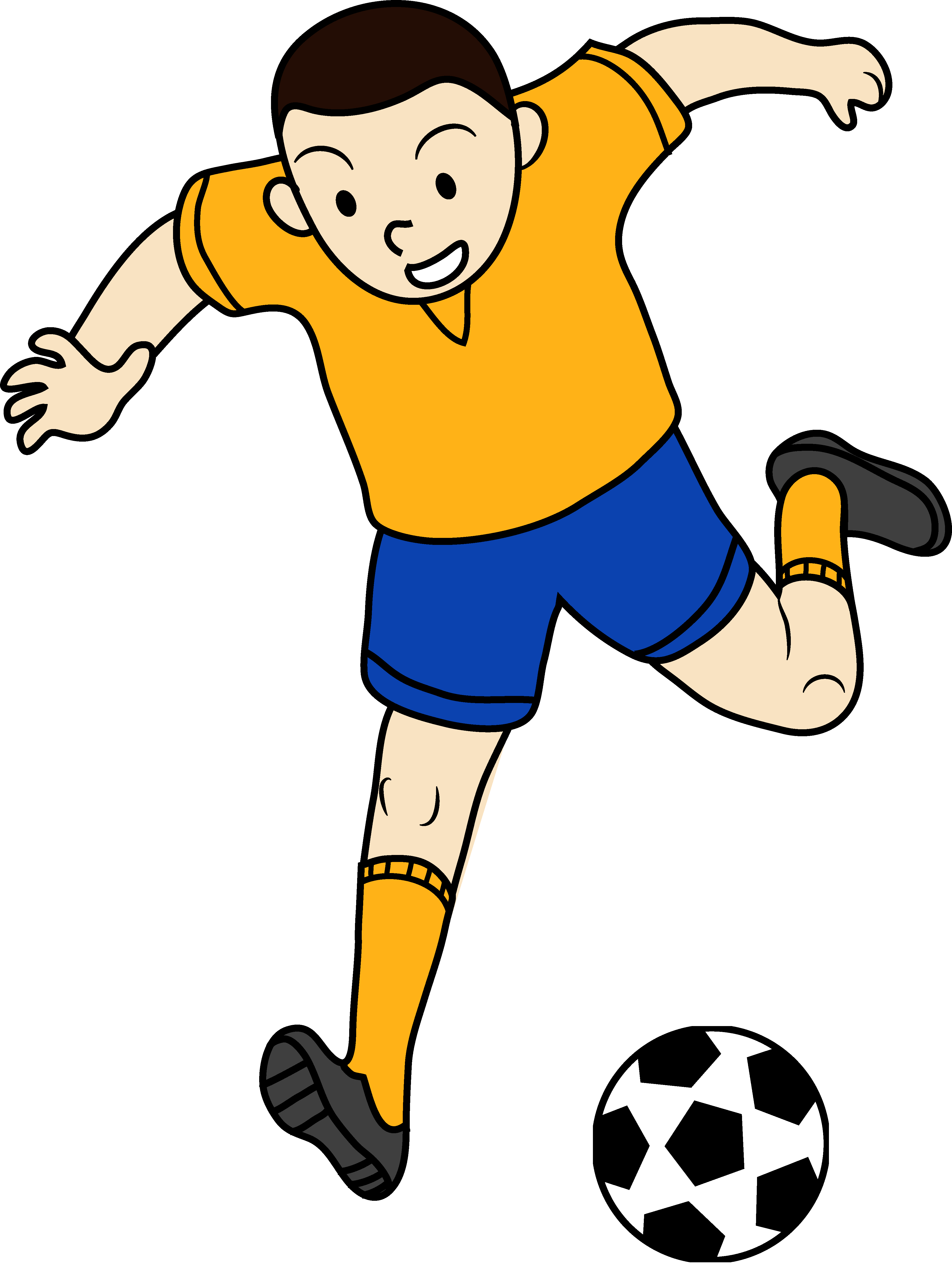 Clip Art Of Kid Playing Soccer Kids Playing Sports Football Kids Kids Playing