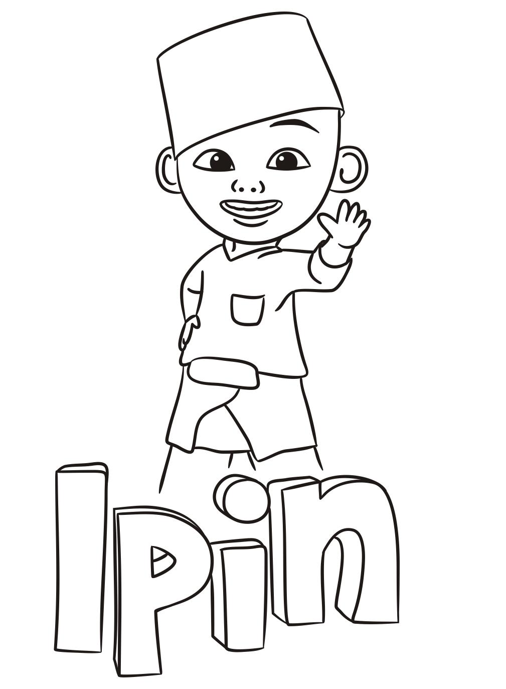 Gambar Kartun Upin Ipin Untuk Mewarnai • BELAJARMEWARNAI.info