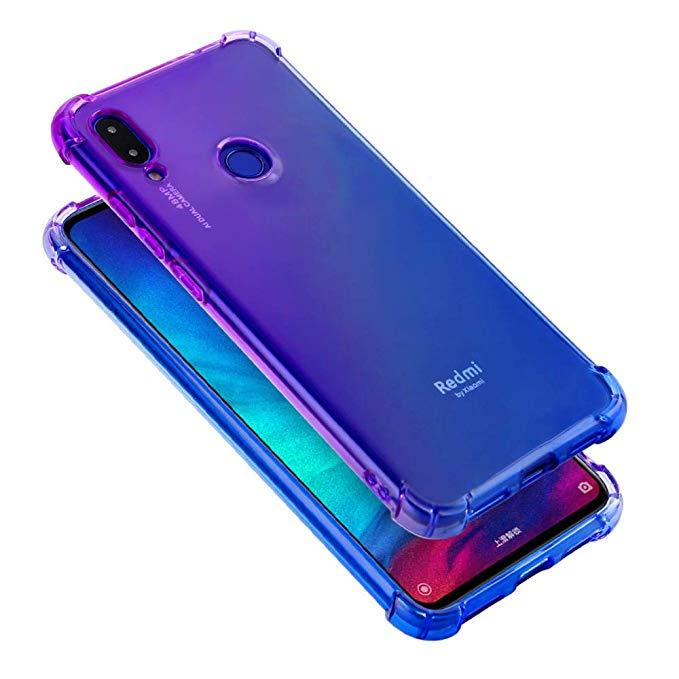 Amazon Com Trihey For Xiaomi Redmi Note 7 Case Xiaomi Redmi Note 7 Pro Case Shockproof Multi Color Gradients Anti Fall Soft Si Xiaomi Chic Phone Case Note 7
