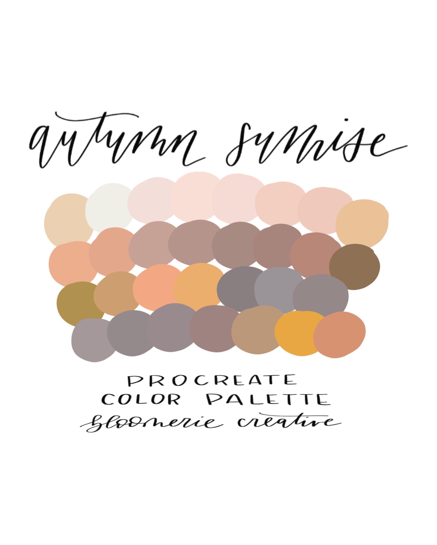 Autumn sunrise / Fall colors / Procreate color palette / Procreate swatches #autumncolorpalette
