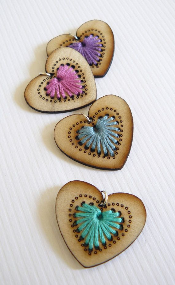 Embroidered Laser Cut Pendant << embroidery project