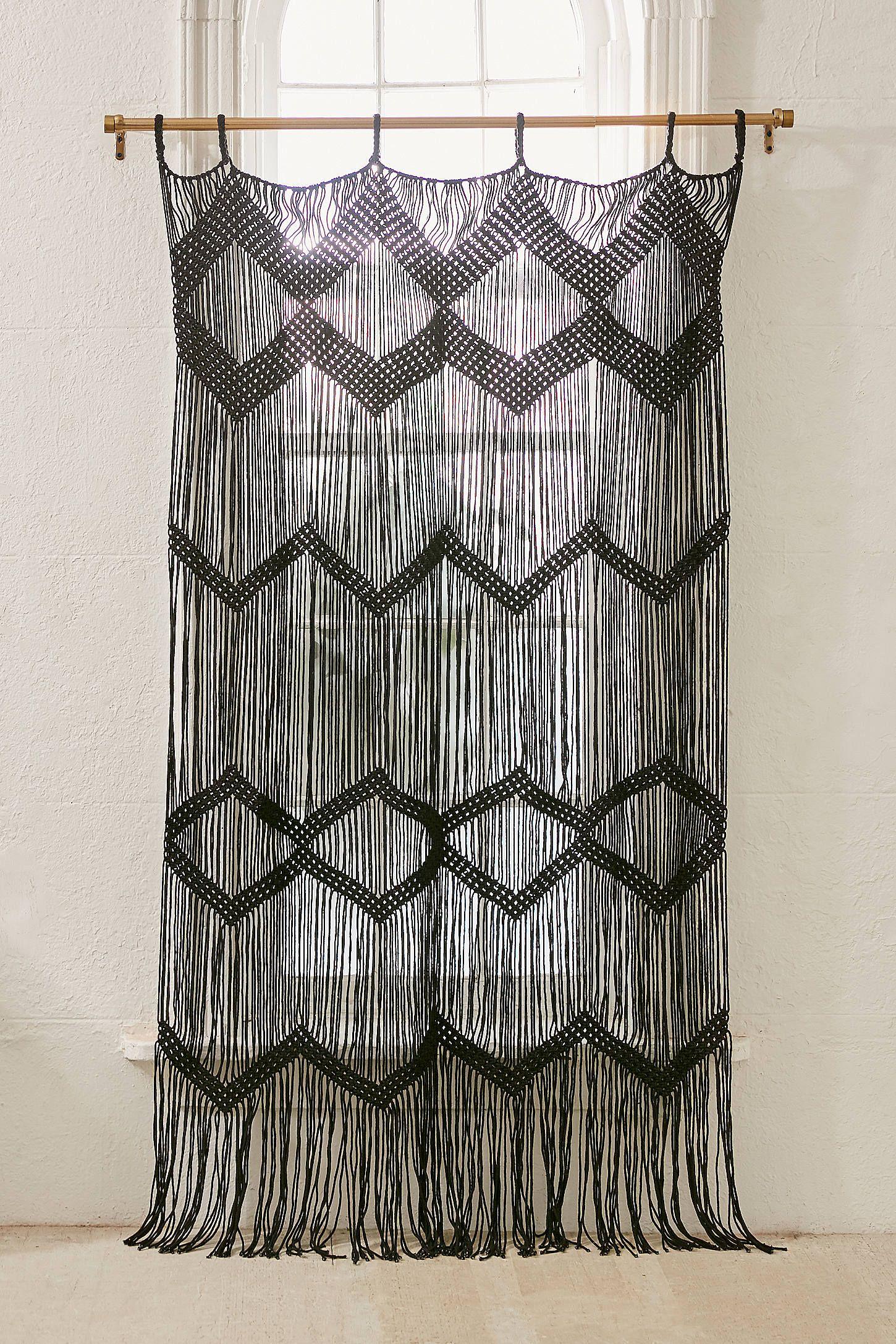 Meadowsweet Macrame Panel Beaded Curtains Macrame Curtain Curtains