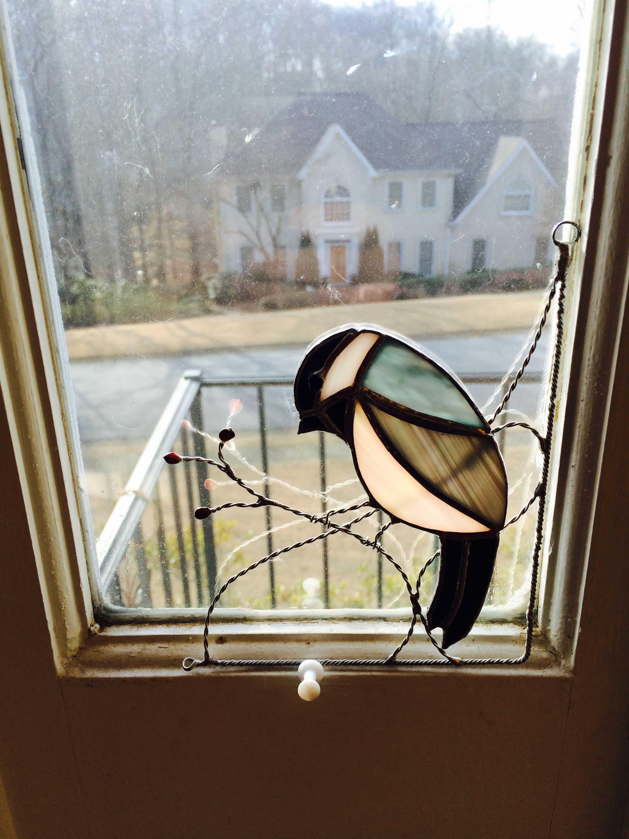 Stained glass chickadee | Vitrales | Pinterest | Vidrio, Mosaicos y ...