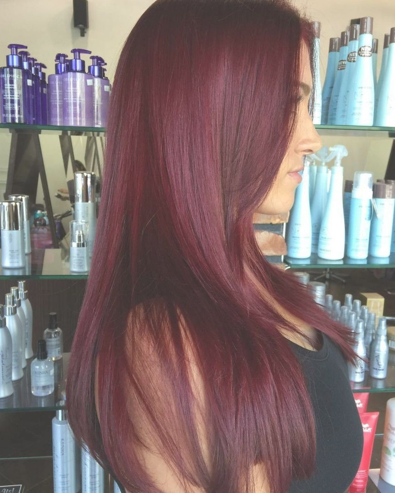 Inspirational Eggplant Hair Color Gallery Of Hair Color Tutorials Plum Hair Color Haircolorsummer Maroon Hair Colors Wine Hair Color Eggplant Colored Hair