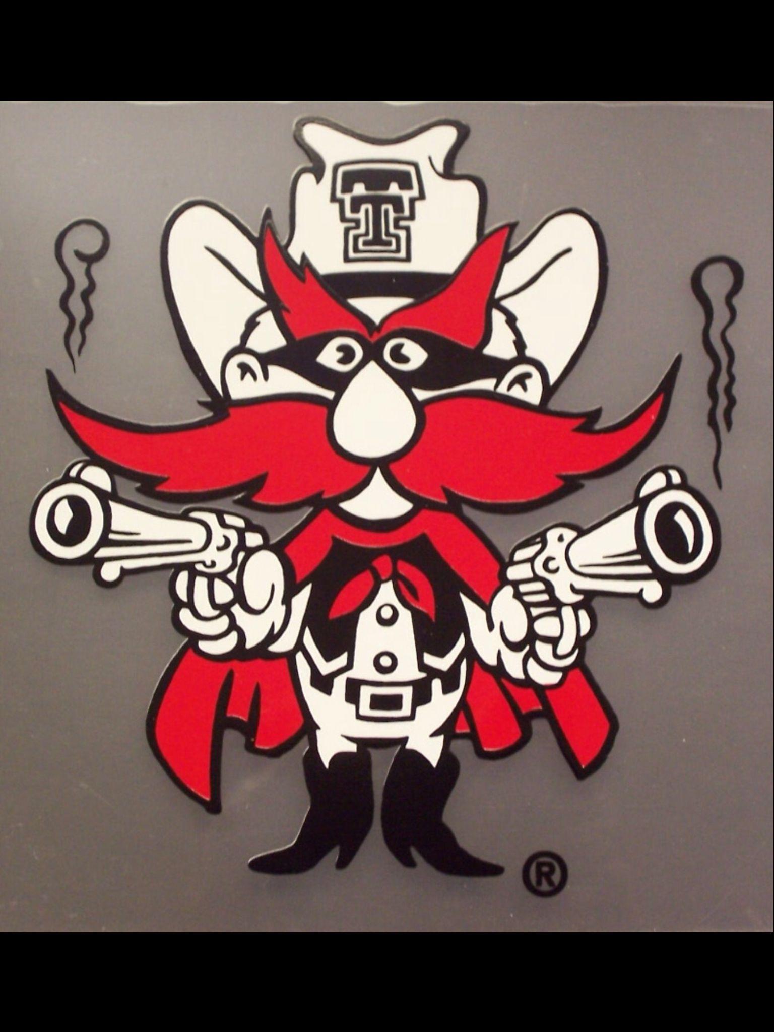 Old School Raider Red Texas tech mascot, Texas tech red