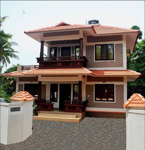 1100 Square Feet 3 Bedroom Traditional Kerala Style Double Floor Home Design For 15 Lacks Low Bu Brick House Designs House Designs Exterior Kerala House Design