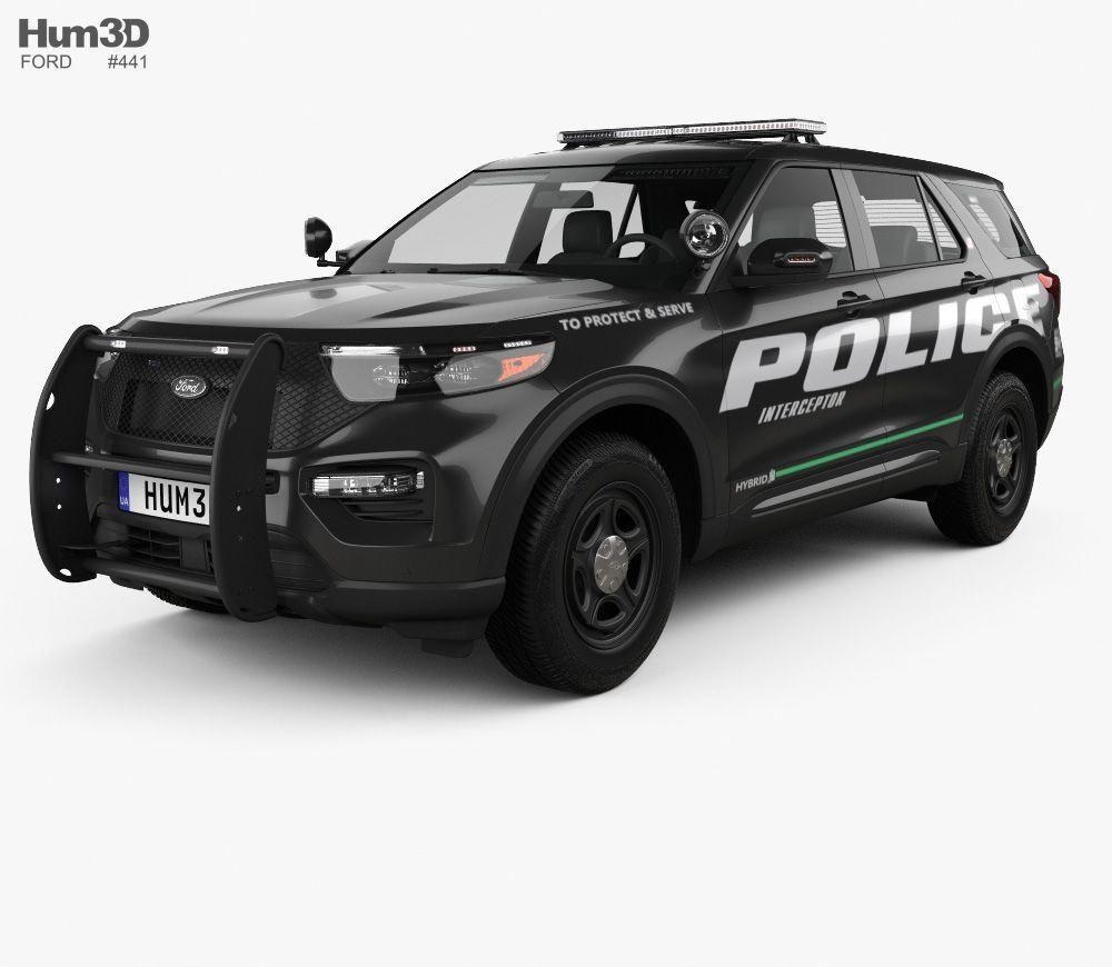 Ford Explorer Police Interceptor Utility 2020 3d Model From Hum3d