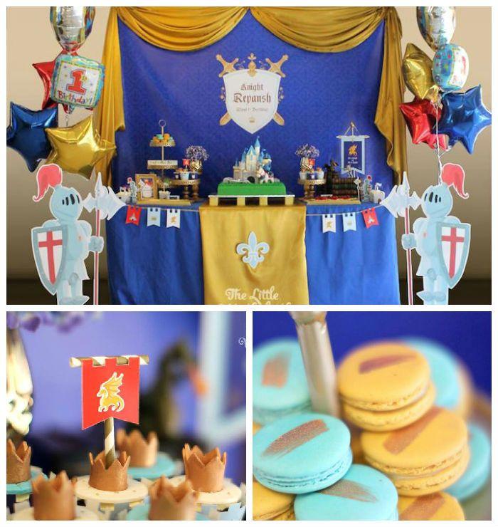 Kara S Party Ideas Royal Princess First Birthday Party: Royal Knight Themed Birthday Party Via Kara's Party Ideas