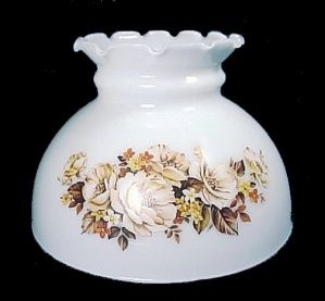 Floral milk glass 8 student lamp shade used lighting replacement floral milk glass 8 student lamp shade used lighting replacement lampshade for antique mozeypictures Images