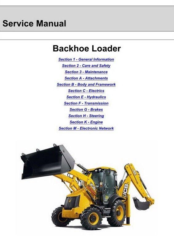 JCB 3CX 4CX Backhoe Loader Service Manual 9813 0250 01