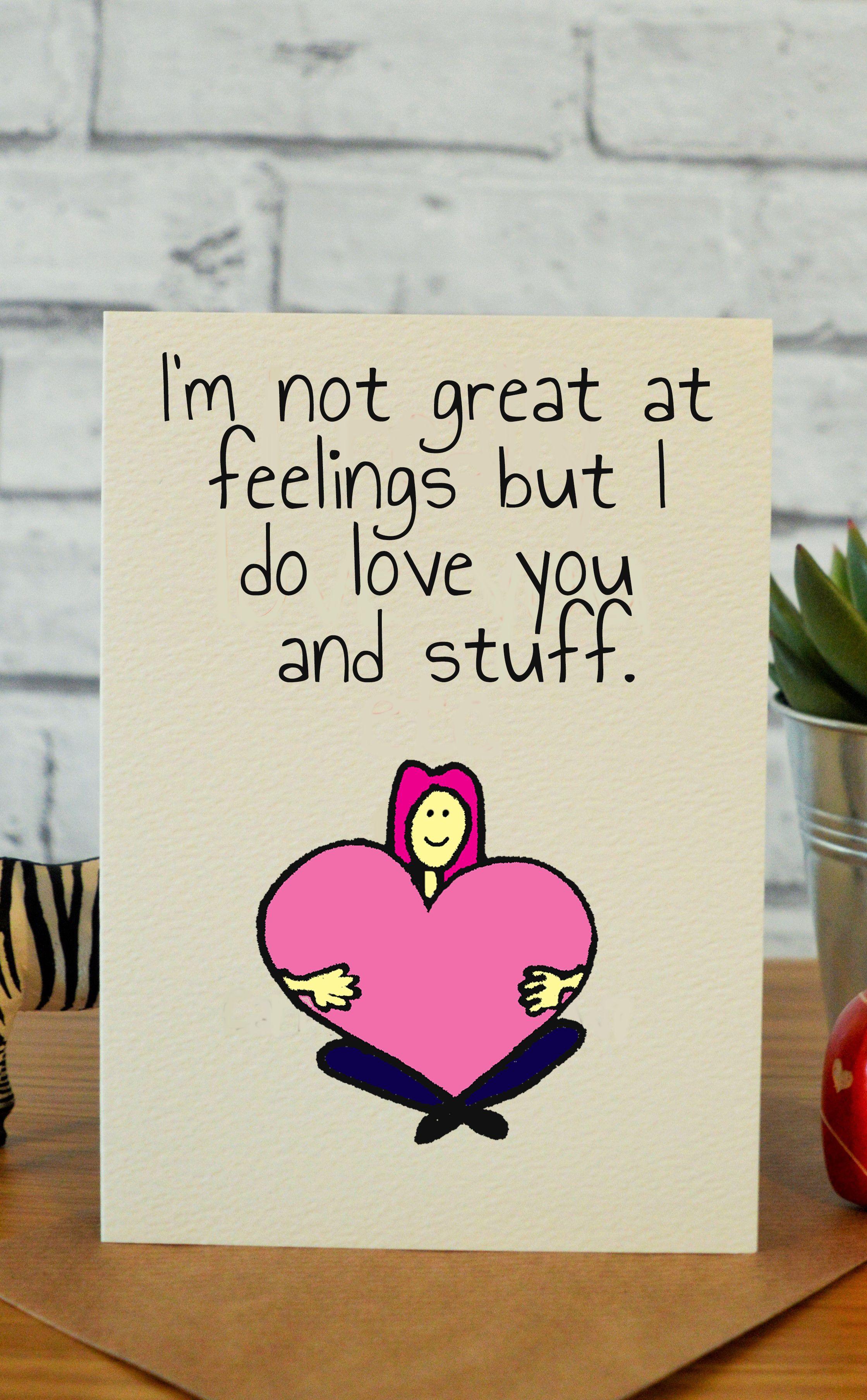 wedding anniversary greeting cardhusband%0A Feelings  u     stuff  Funny anniversary card for boyfriend husband