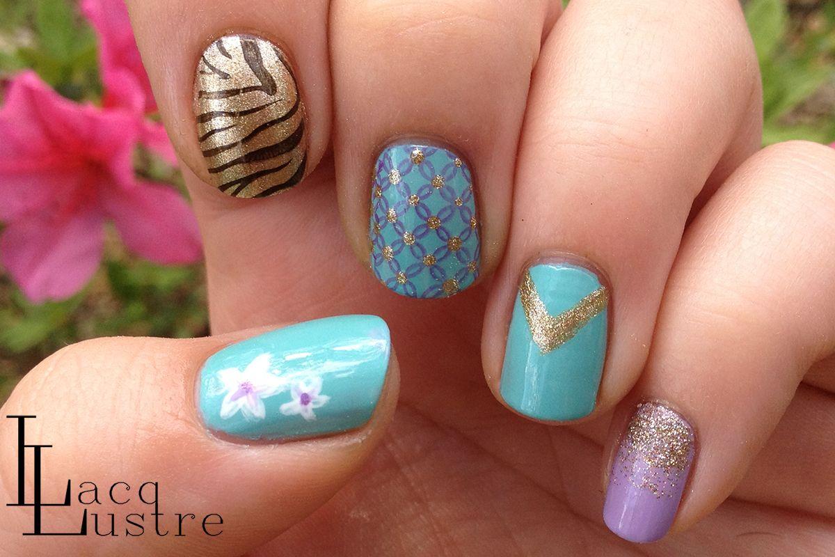 LacqLustre Princess Series: Princess Jasmine Nail Art | Nails ...
