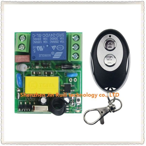 New Ac220v 1ch Rf Wireless Mini Switch Relay Receiver Ellipse Shape Transmitters For Appliances Gate Garage Ellipse Shape Electronic Accessories Transmitter