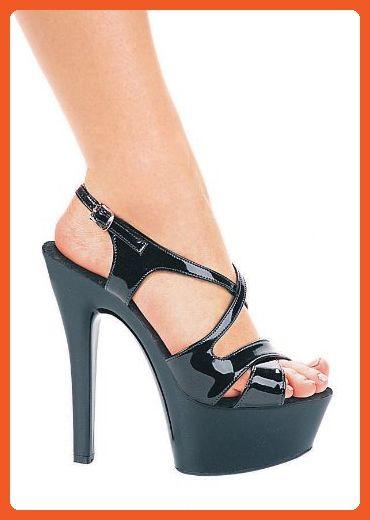 Women s 6 Inch Heel Strappy Platform Sandal (Black 11) - Sandals for women  ( Amazon Partner-Link)