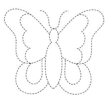 para patchcolagem-will use this for tracing and colouring in - butterfly template