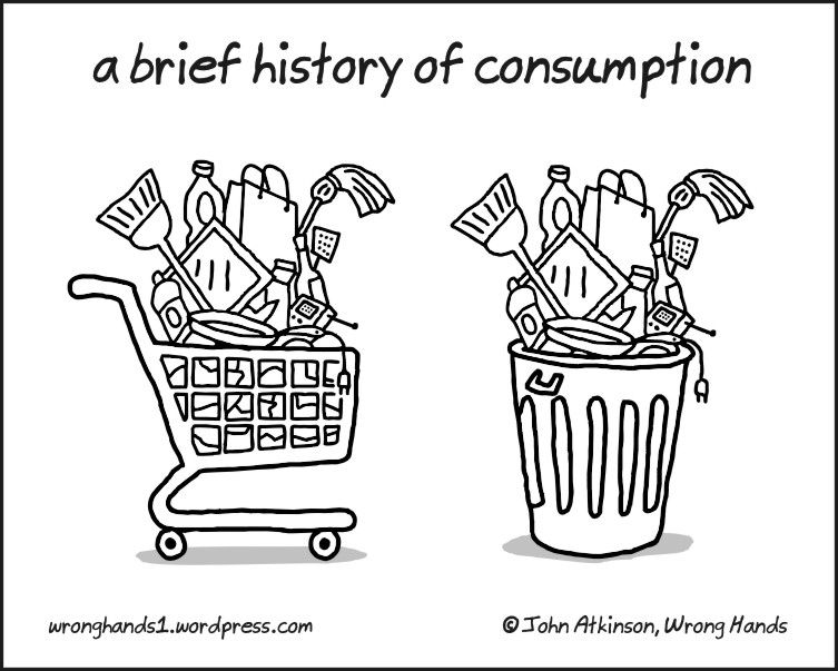 consumption humor pinterest sustainability minimalism and