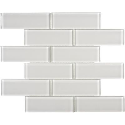 Sassi - 2x6 Arctic Fog Glass Brick Mosaics - 12-183 - Home ...