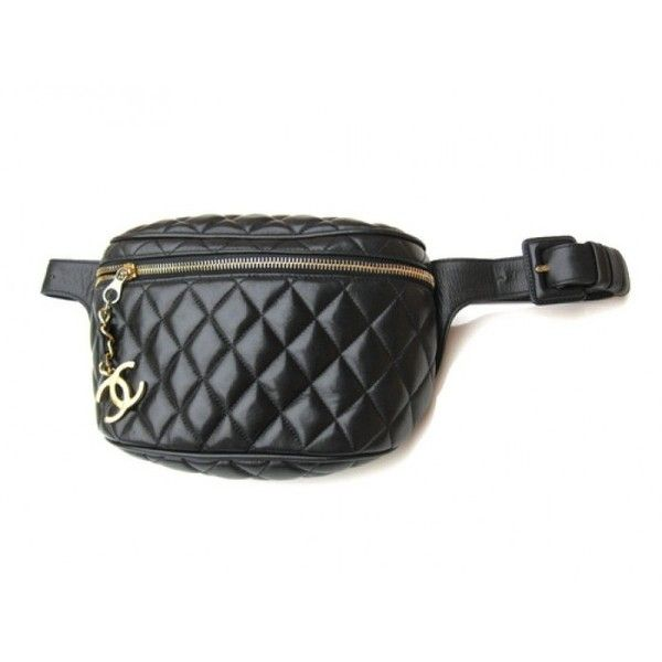 a471c3baf6ef Pre-Owned Chanel Black Quilted Lambskin Retro Pouch Fanny Pack (41 675 UAH)