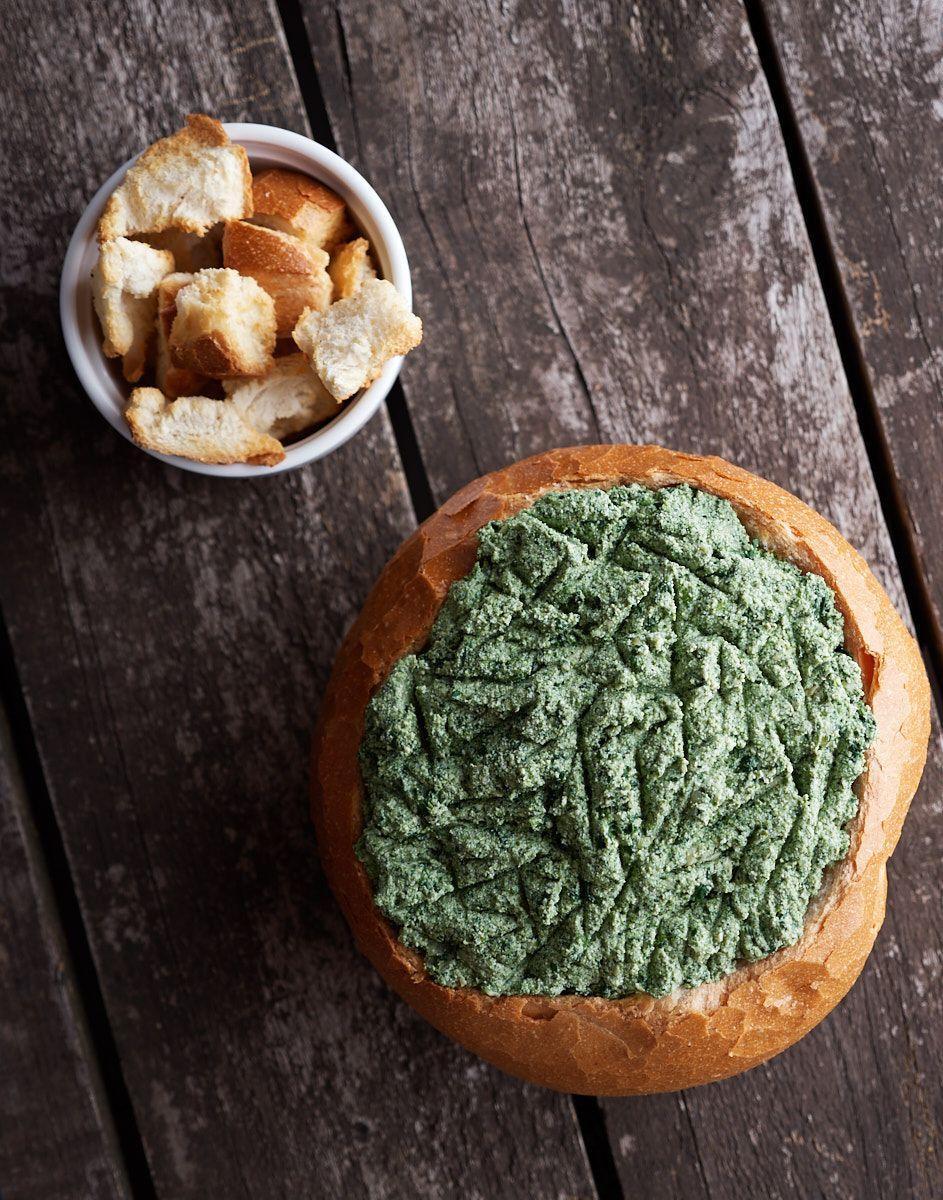 Cob Loaf Spinach Dip - Delightful Vegans #cobloaf Cob Loaf Spinach Dip!