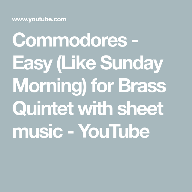 Commodores Easy Like Sunday Morning