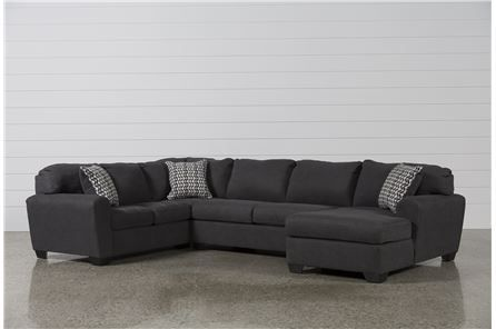 Soon Slate 3 Piece Sectional W Raf Chaise Main