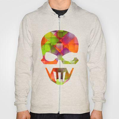 CHECKED DESIGN II-v8 Hoody by Pia Schneider [atelier COLOUR-VISION] - $42.00 #abstract #art #design #checked #plaid #pattern #square #geometric #colourful #orange #purple #violet #green #lemon #textures #piaschneider #ateliercolourvision #skull #skullshape #hoodies #zipper #pullover #unisex #clothing #fashion #women #men
