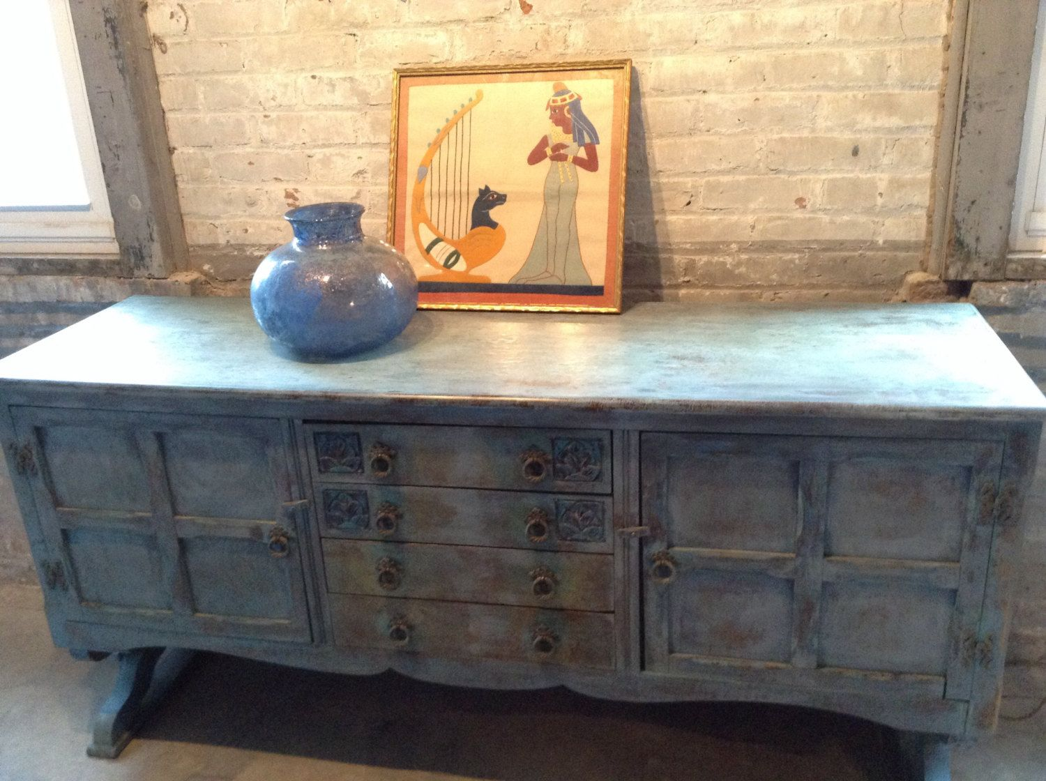 Painted Credenza French Country Sideboard Server