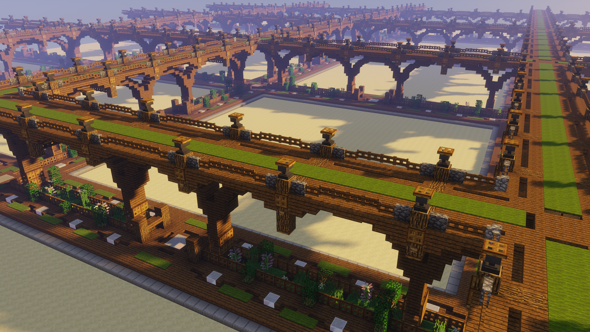 Photo of Custom PlotWorld roads for the Build world on a server I'm working on, thought I'd share!