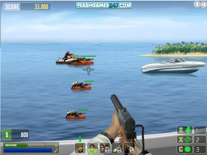 Teknede Savas Oyunu Tekne Silah Savas