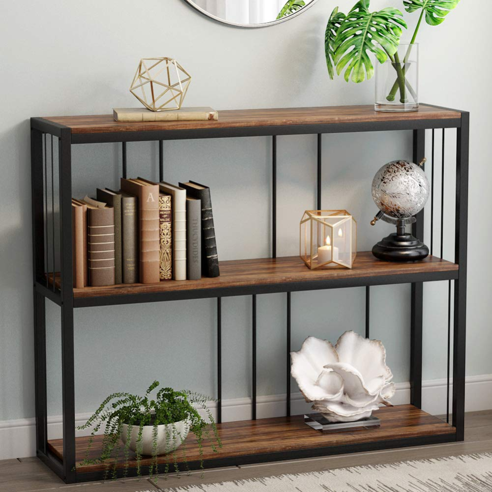 Amazon Com Tribesigns 3 Tier Vintage Industrial Console Table
