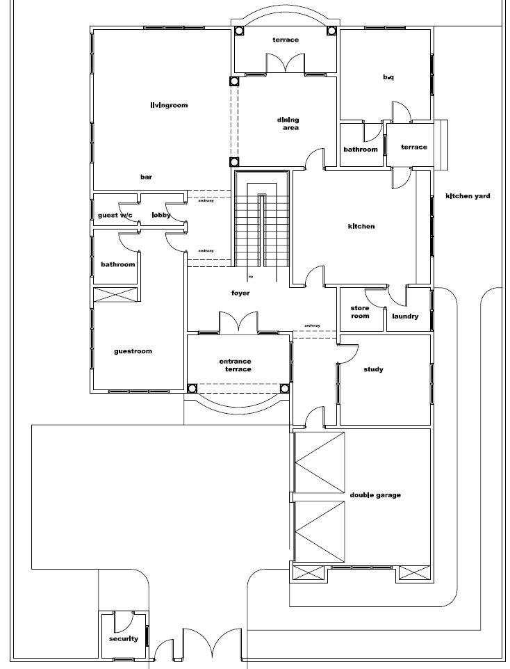 House Design For Uganda Niger Cameroon And Cote D Ivoire House Plans House Floor Plans House Design