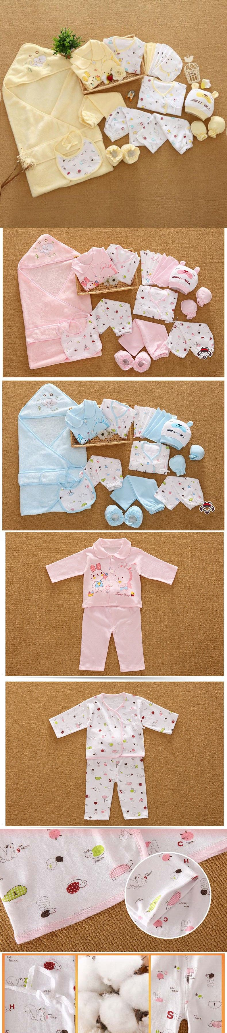 5772f78dd63db 21 Pcs/Set Cotton Newborn Baby Clothing Set for Girls Boys Toddler Baby- clothes New Born Gift Set