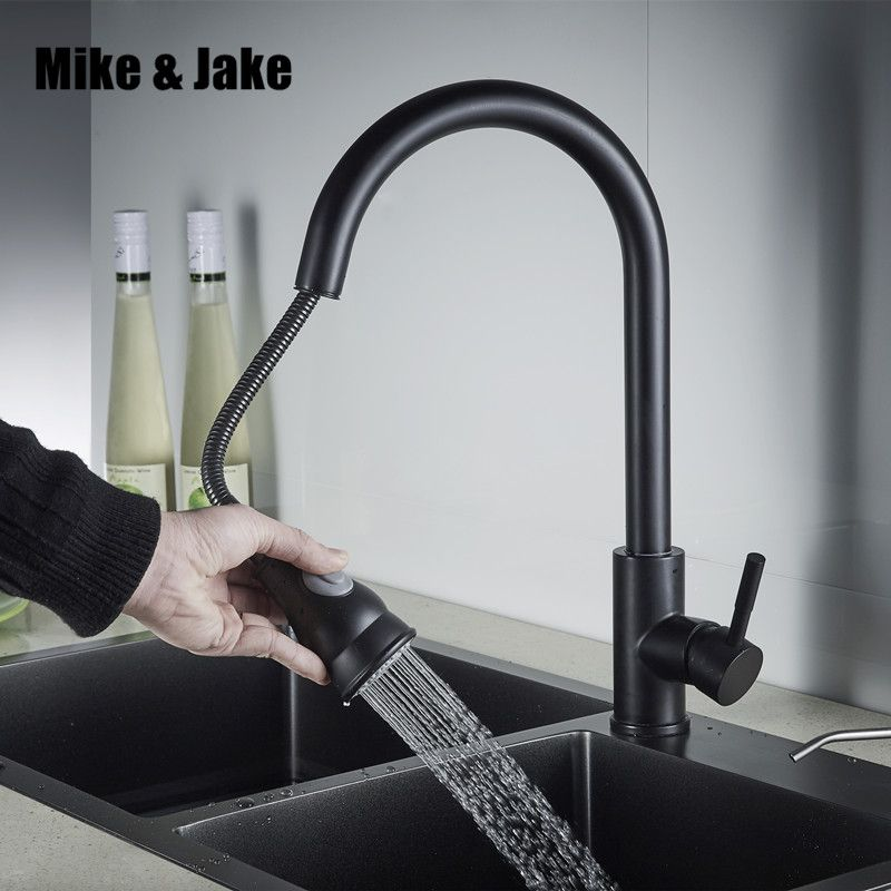 Stainless Steek 304 Kitchen Faucet Pull Out Kitchen Sink Mixer Black Faucet Mixer Kitchen Faucets Pull Out 304 Kit Black Kitchen Taps Kitchen Taps Black Faucet