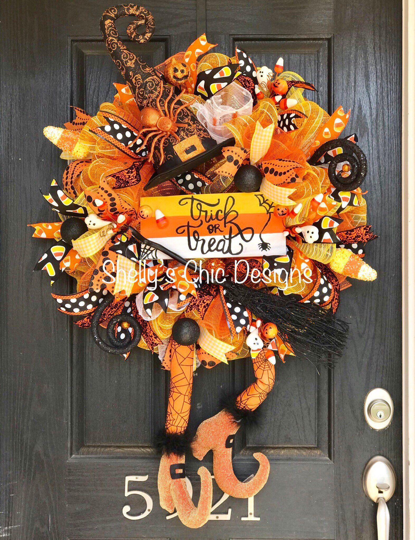 Halloween decorations Halloween wreath, Halloween