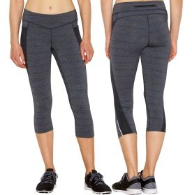 Whether you're jogging for fun or training for race day, the lucy® Endurance Run Capris have you covered. These bottoms feature mesh panels for ventilation that work to keep you cool while lucytech™ fabrics wick moisture away so sweat never slows down your pace. The back zip pocket keeps your essentials safe, and chafe-free seams make sure your focus stays on the task ahead. Stride in style with the lucy® Endurance Capris.