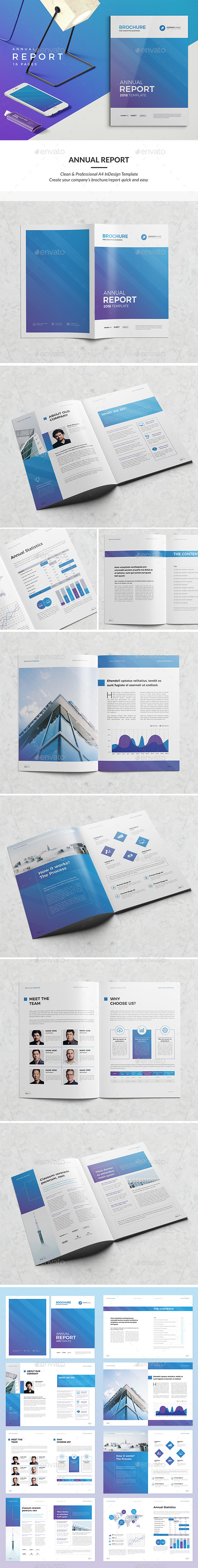 Clean #Annual Report 16 Pages - Corporate #Brochures Download here:  https://graphicriver.net/item/clean-annual-report-16-pages/20353522?ref=alena994