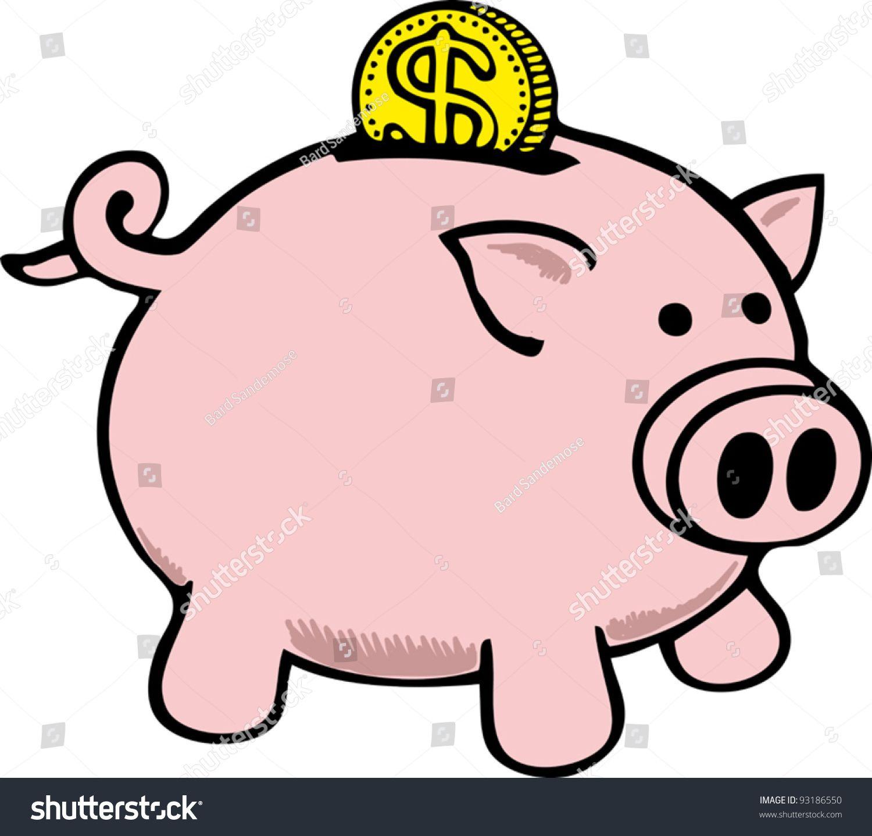 Piggy Bank Ad Spon Piggy Bank Piggy Bank Piggy Illustration Design
