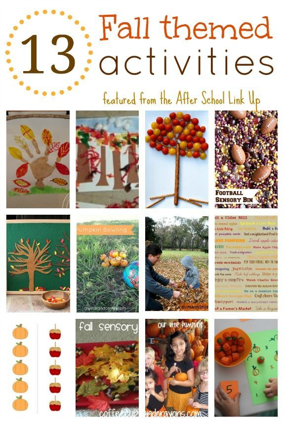 I am ready for fall! I love the fall scents, the fall holidays, the fall food, and the fall activities. Last week on the After School Linky I found 15 awesome fall activities for kids!