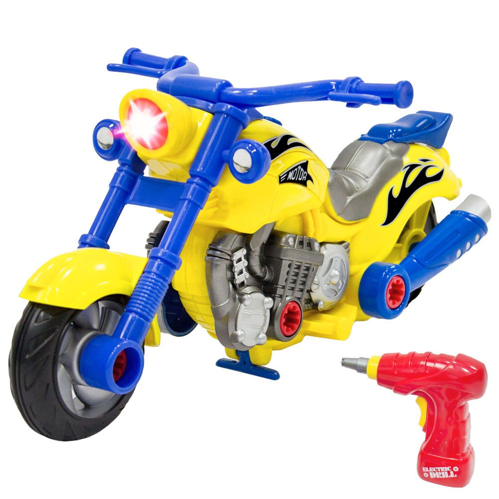 Kids Toy 20 Piece Assembly Take A Part Motorcycle Set W Lights Sound Play Tools 816586026873 Ebay Kids Connection Kid Connection Toys Kids Toys