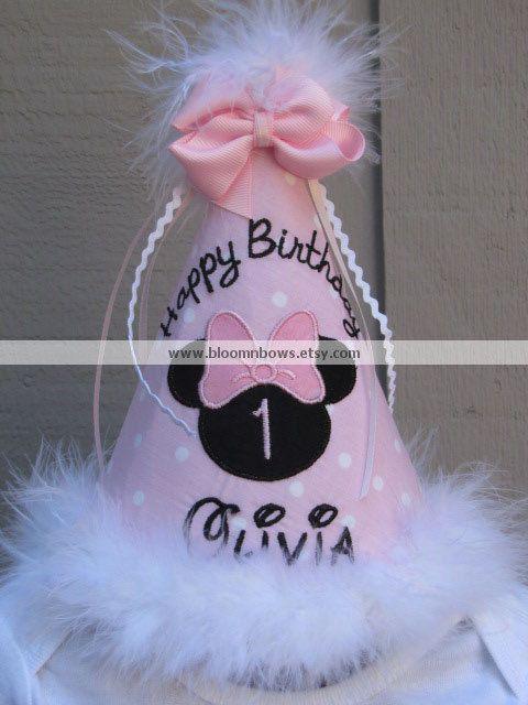cc3ae703ca4c5  Kristina Kilmer Kilmer Geoghagan Custom+Minnie+Mouse+Boutique+Birthday+Hat .+by+bloomnbows+on+Etsy