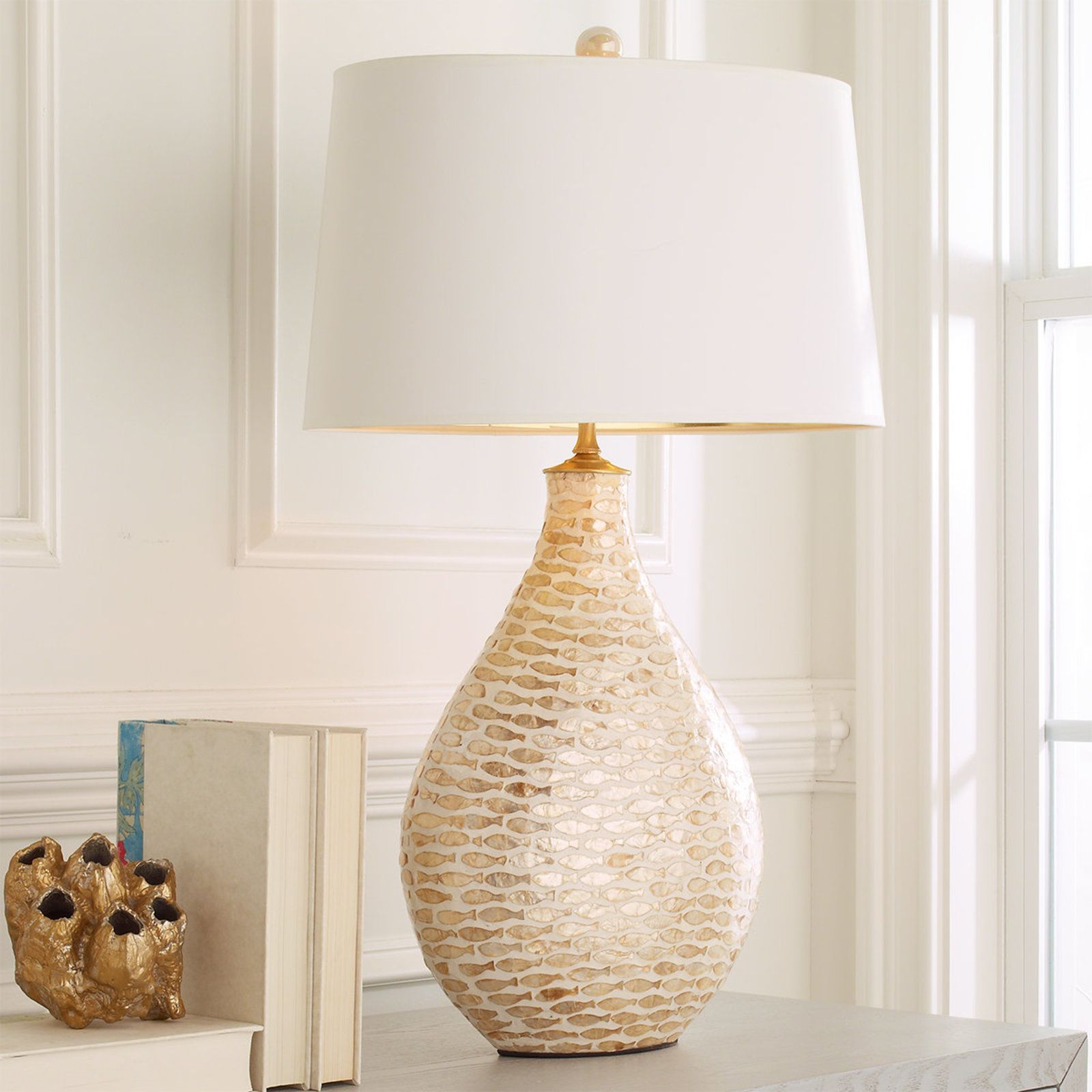Pisces Capiz Shell Table Lamp Shades Of Light Lamp Antique Lamp Shades Table Lamp Shades