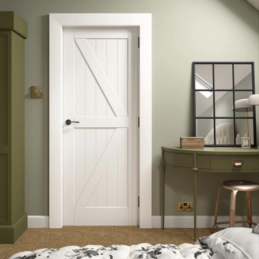 Frame Ledge and Braced Cottage Door - White Primed ...